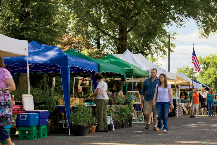 The Wilkesboro Open Air Market in Wilkesboro, NC.