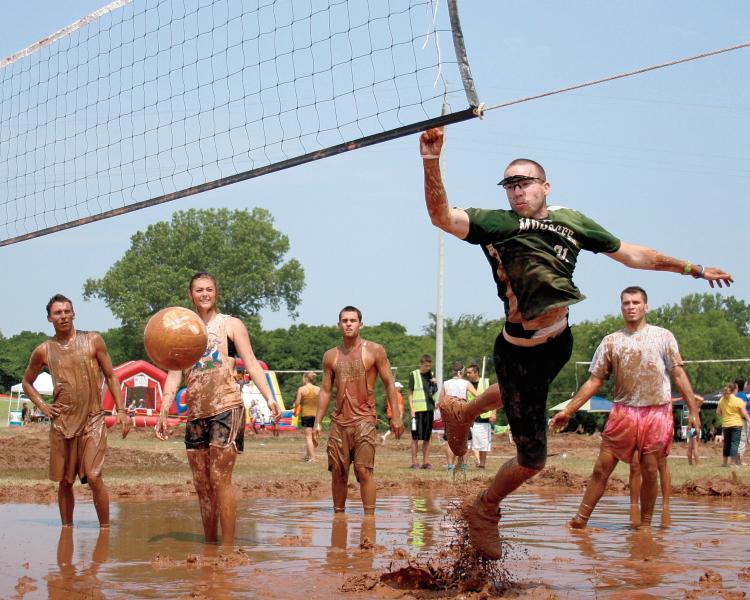 Three Forks Harbor Mud Volleyball Tournament in Muskogee, OK