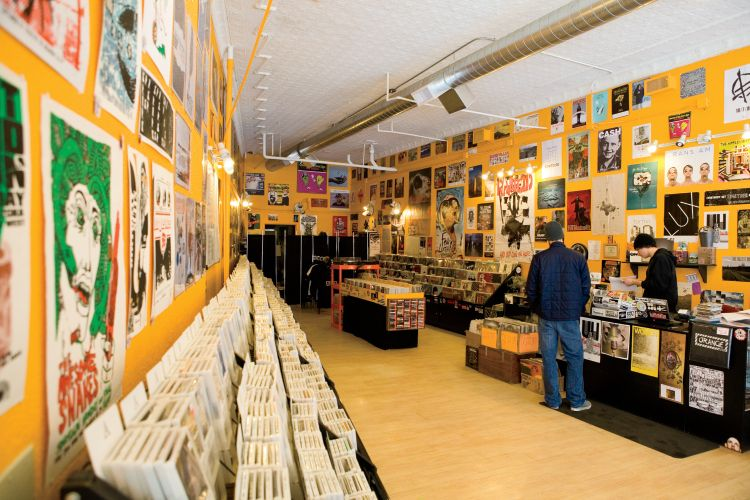 Orange Records in Downtown, College Town, Fargo, ND.
