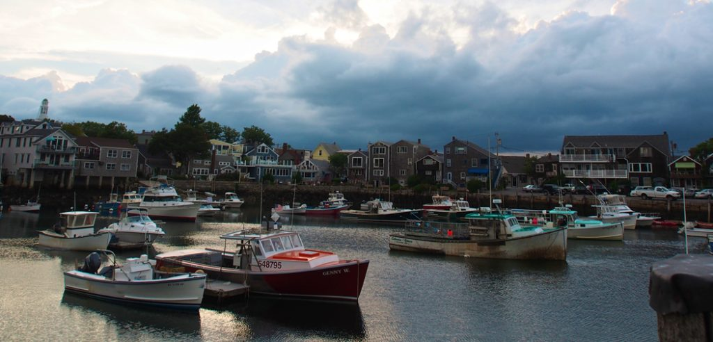 Boats in the harbor at Rockport, MA