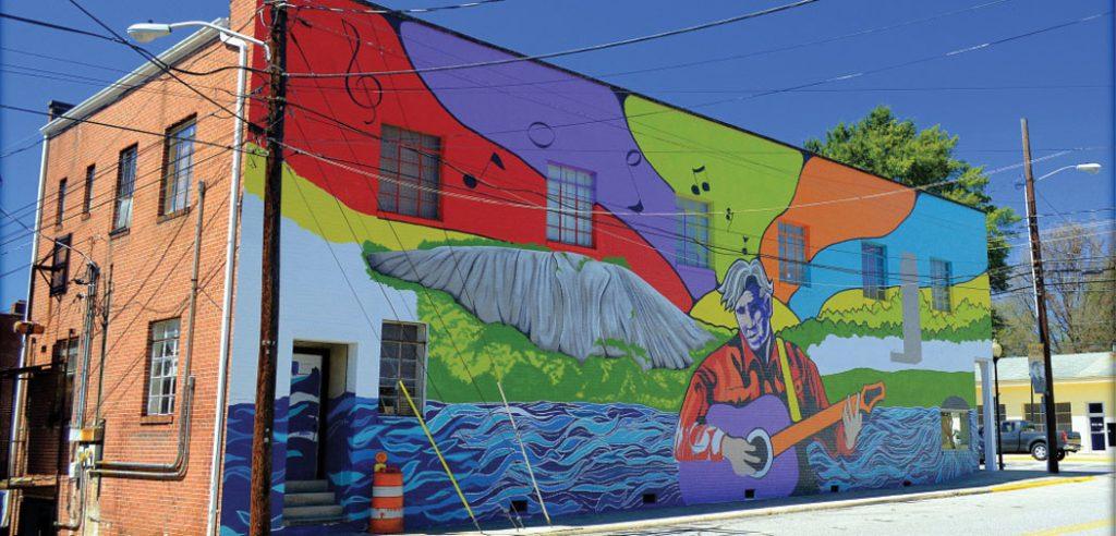 Wilkesboro, NC - Doc Watson Mural