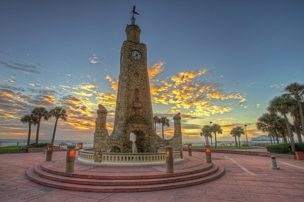Clocktower in Daytona Beach, FL