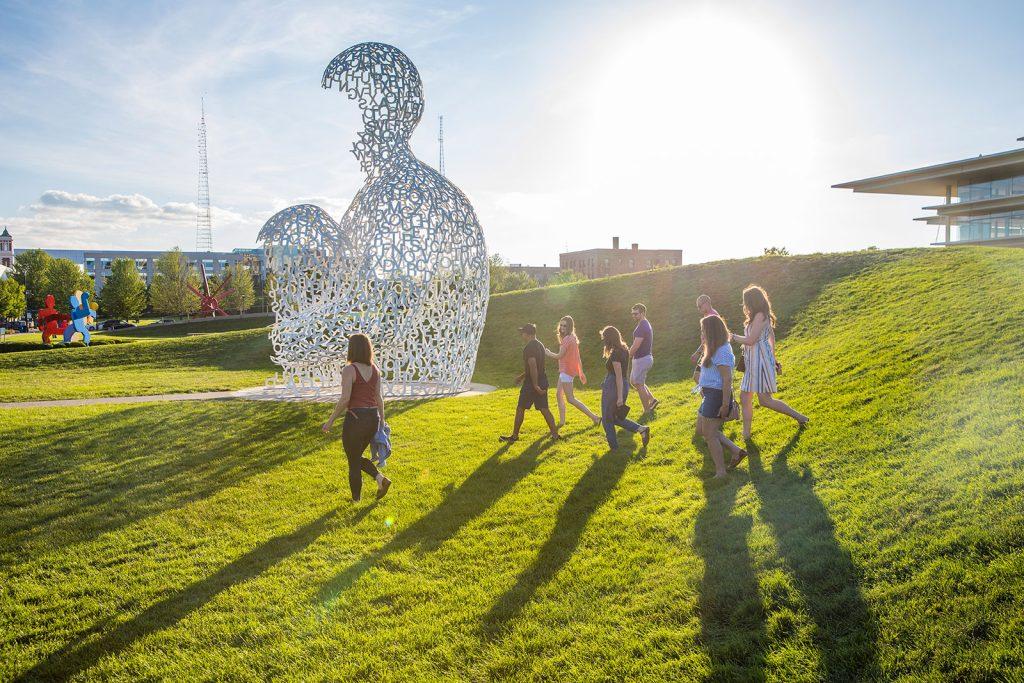 Pappajohn Sculpture Park in Des Moines Iowa